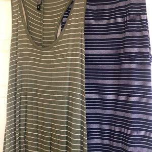 2 stripped Cotton On dresses